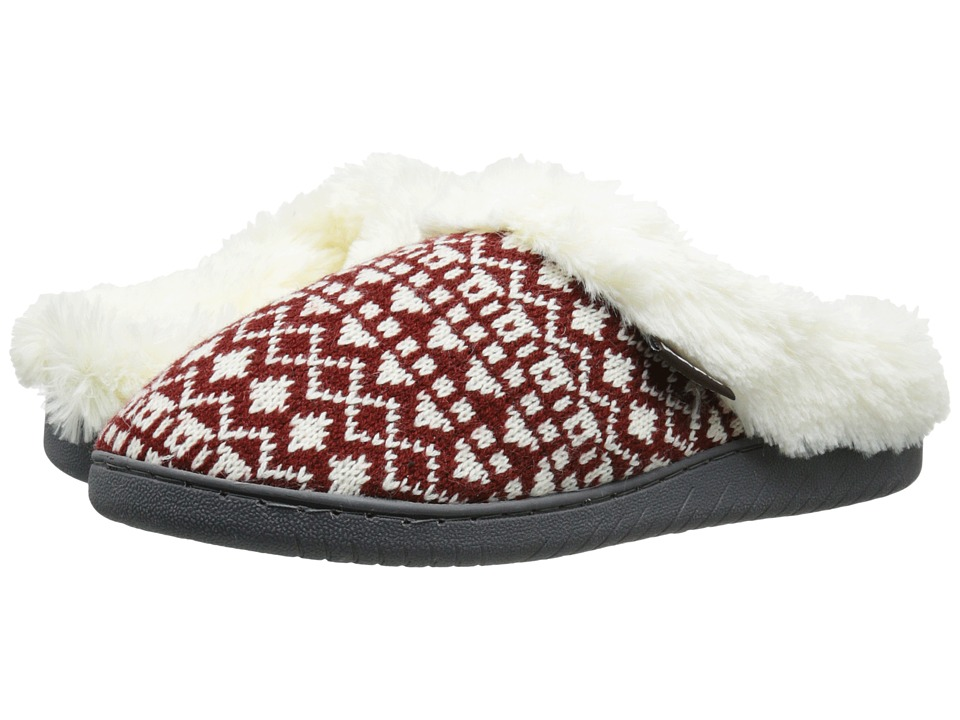MUK LUKS - Knit Clogs (Chianti) Women's Slippers