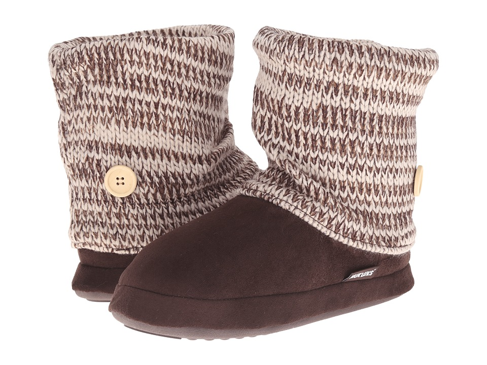 MUK LUKS - Legwarmer Boot (Brown) Women's Pull-on Boots