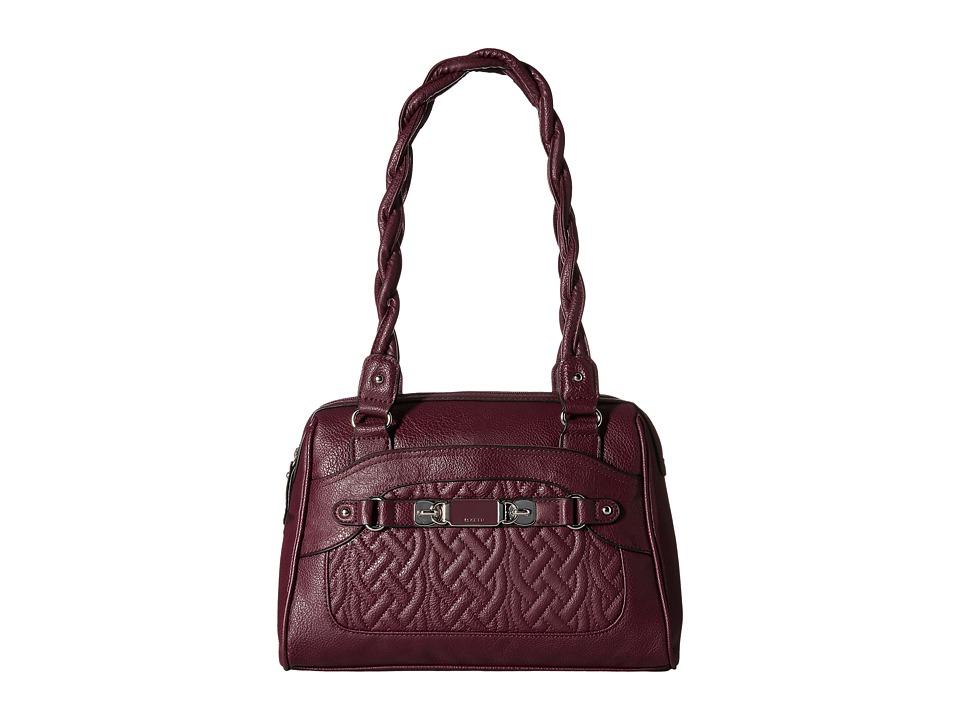Rosetti - Twist It Up Quilted Satchel (Cordovan) Satchel Handbags