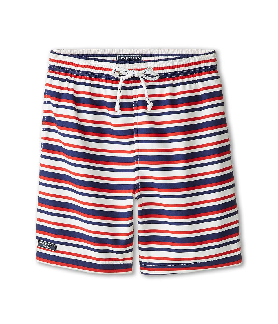 Toobydoo - Georges French Stripe Swim Shorts (Infant/Toddler/Little Kids/Big Kids) (Red/White/Blue) Boy's Swimwear