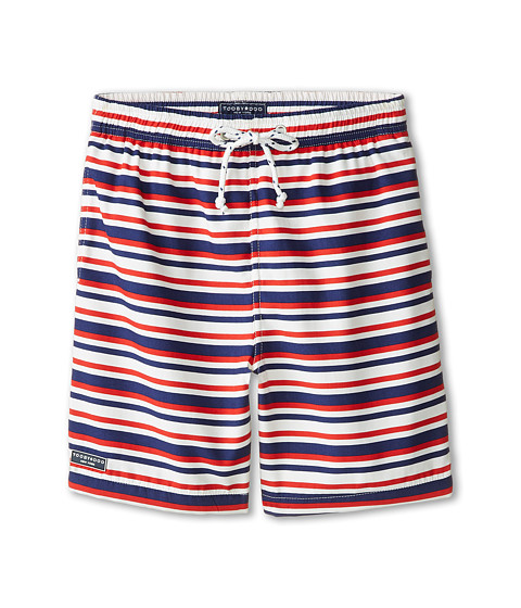 Toobydoo - Georges French Stripe Swim Shorts (Infant/Toddler/Little Kids/Big Kids) (Red/White/Blue) Boy