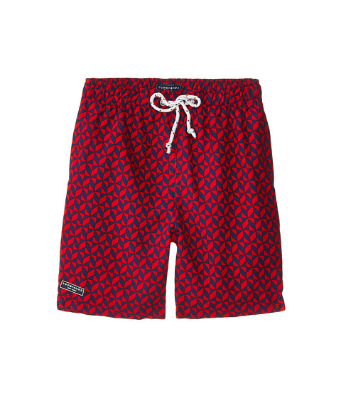 Toobydoo - The Byron Swim Shorts (Infant/Toddler/Little Kids/Big Kids) (Navy/Red) Boy