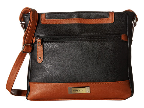 Rosetti - Presley Mid Two-Tone Crossbody (Black) Handbags