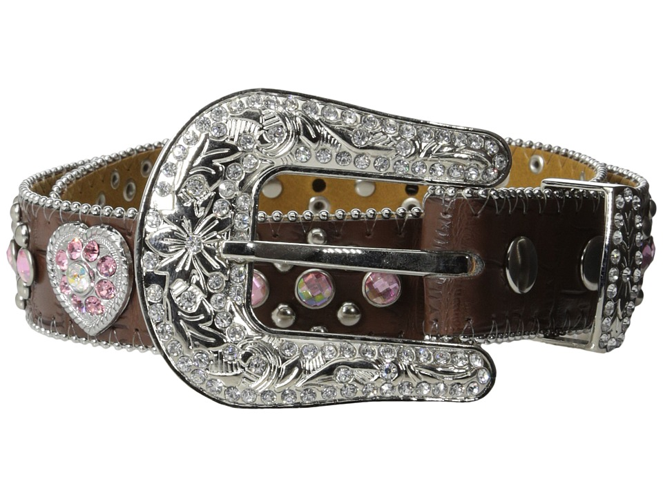 M&F Western - Hearts Belt (Little Kids/Big Kids) (Brown) Women's Belts