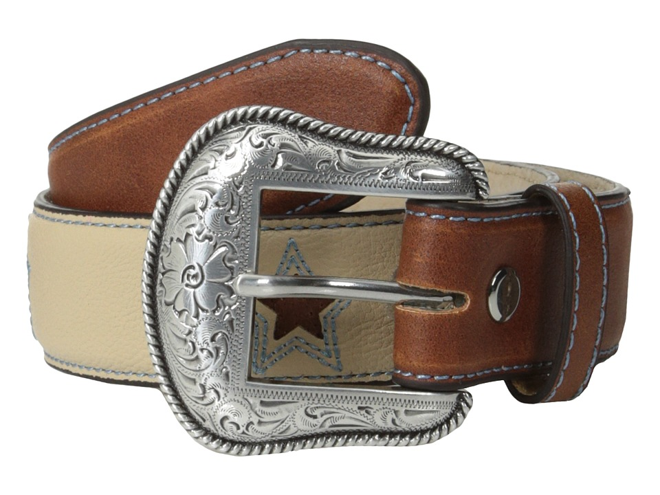 M&F Western - Lone Star Belt (Little Kids/Big Kids) (Cream) Men's Belts