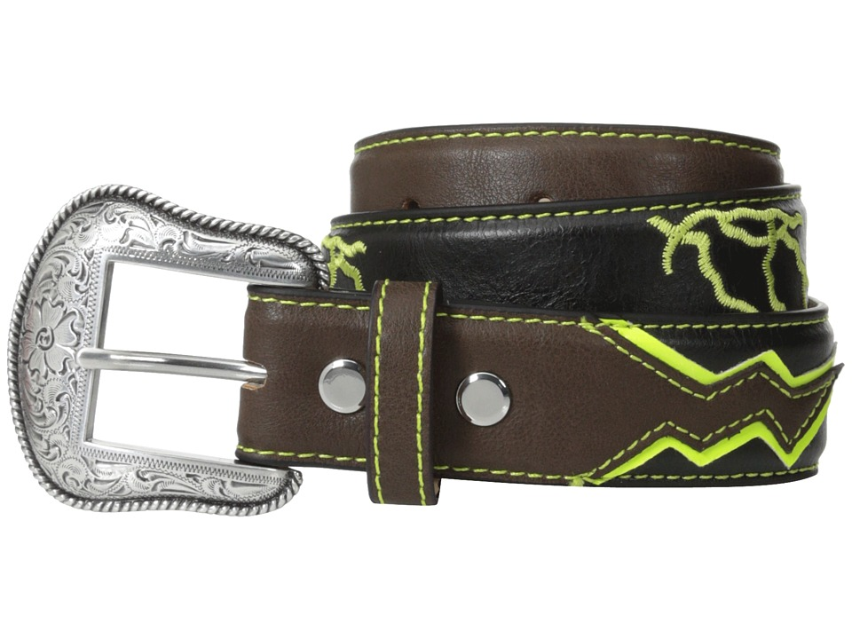 M&F Western - Lightning Bolt Belt (Little Kids/Big Kids) (Black) Men