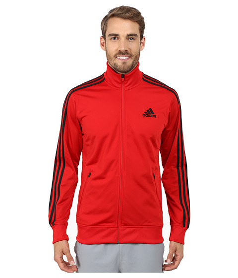 adidas - Post Game Track Jacket (Scarlet Red/Black) Men's Coat
