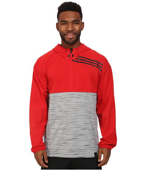 adidas - Standard One Anorak (Scarlet Red/Dark Grey Heather) Men