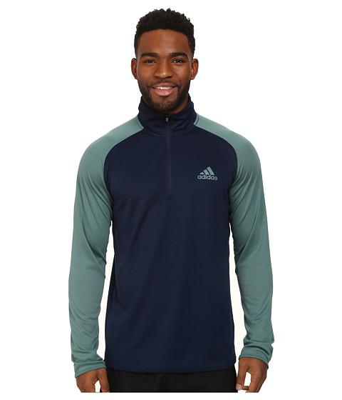 adidas - Climacore 1/4 Zip (Collegiate Navy/Green) Men