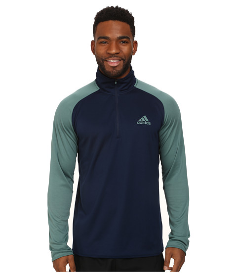 adidas - Climacore 1/4 Zip (Collegiate Navy/Green) Men's Clothing