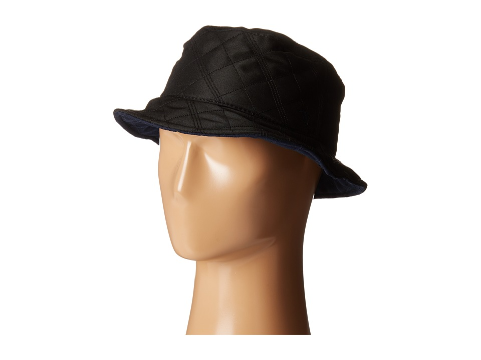 Original Penguin - Quilted Nylon Bucket Hat (Black) Bucket Caps