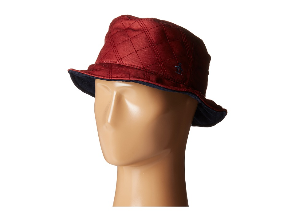 Original Penguin - Quilted Nylon Bucket Hat (Rose Wood) Bucket Caps
