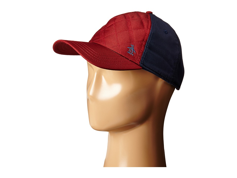 Original Penguin - Quilted Nylon Baseball Cap (Rosewood) Baseball Caps