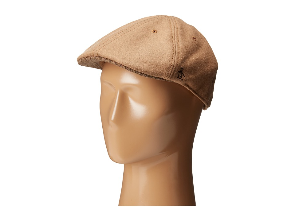 Original Penguin - Wool Six Panel Driver (Camel) Driving Hats