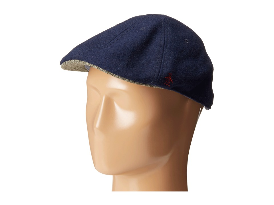 Original Penguin - Wool Six Panel Driver (Navy) Driving Hats