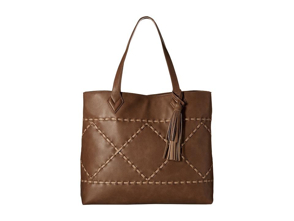 Big Buddha - Winona (Dark Taupe/Light Taupe) Tote Handbags