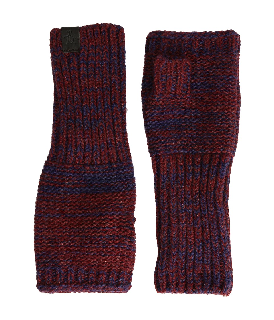 Original Penguin - Variegated Knit Gloves (Pomegranate) Extreme Cold Weather Gloves
