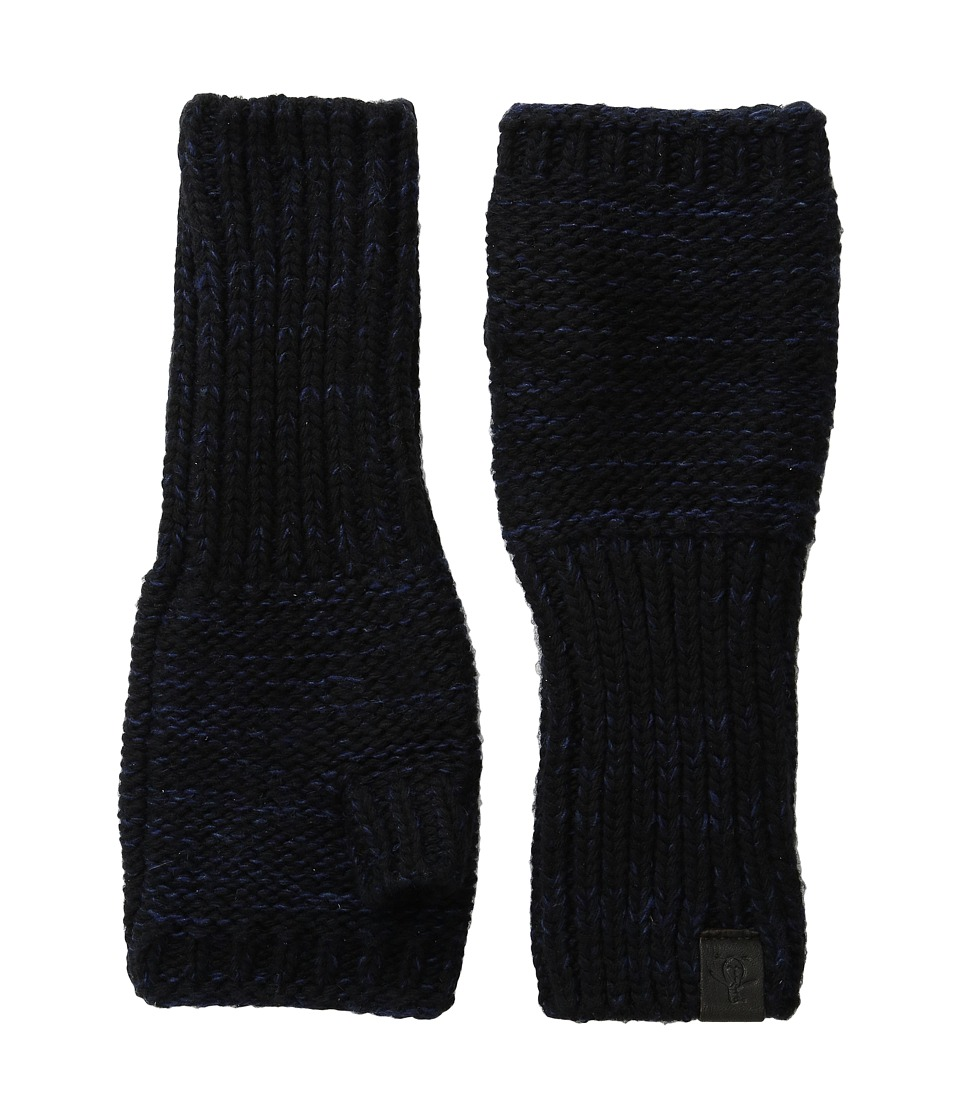 Original Penguin - Variegated Knit Gloves (Black) Extreme Cold Weather Gloves