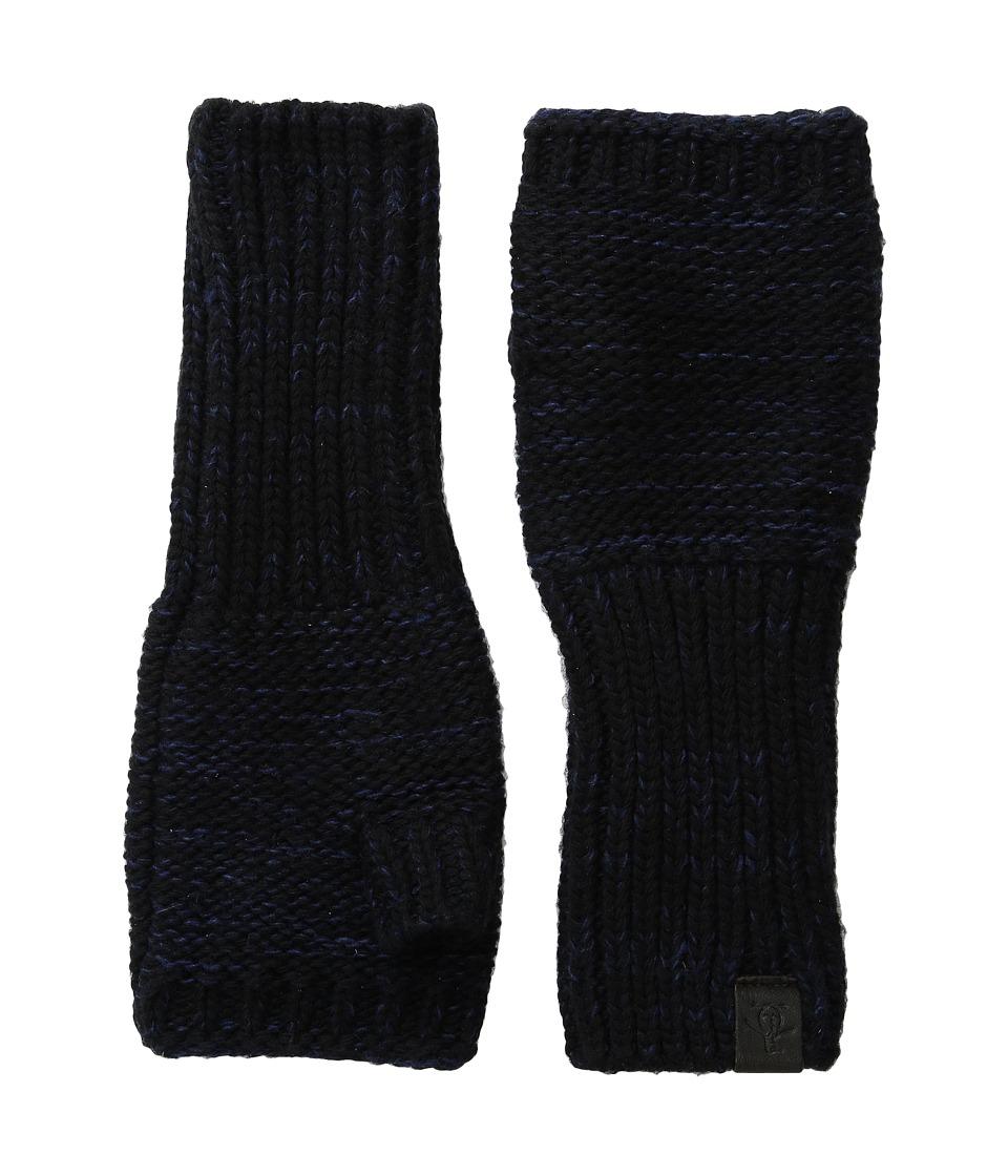 Original Penguin - Variegated Knit Gloves (Black) Extreme Cold Weather Gloves