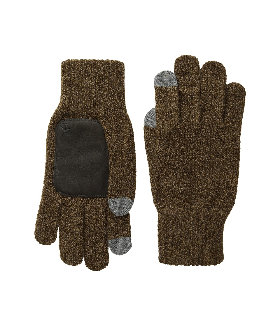 Original Penguin - Textured Knit Tech Touch Gloves (Brown) Extreme Cold Weather Gloves