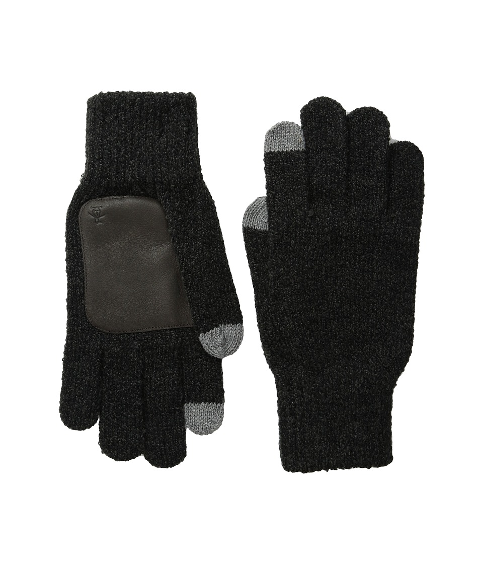 Original Penguin - Textured Knit Tech Touch Gloves (Black) Extreme Cold Weather Gloves