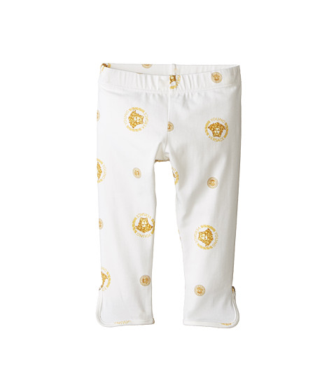 Versace Kids - All Over Medusa Print Leggings (Infant) (Gold) Kid's Casual Pants