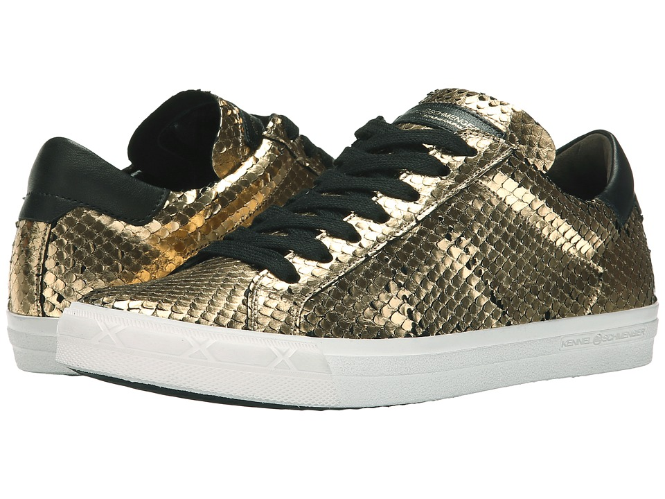 Kennel & Schmenger - Lucy Python Trainer (Gold) Women's Shoes