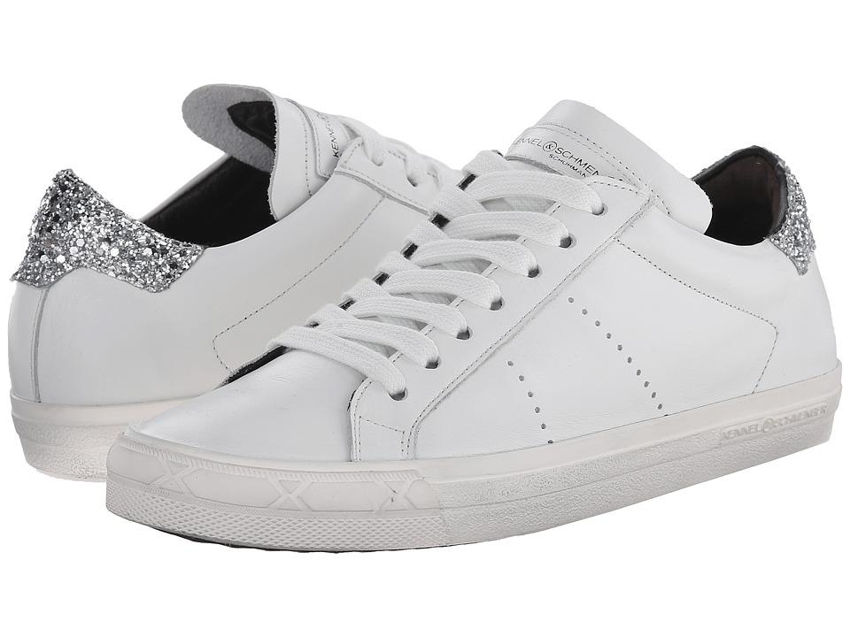 Kennel & Schmenger - Glitter Back Sneaker (Bianco/Silver) Women's Shoes