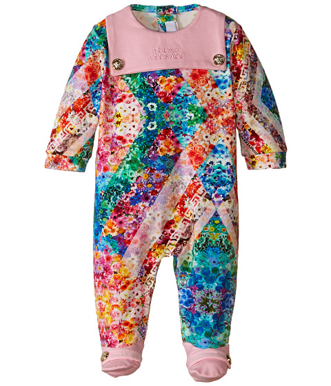 Versace Kids - All Over Print Footie (Infant) (Pink/Multi) Girl's Jumpsuit & Rompers One Piece
