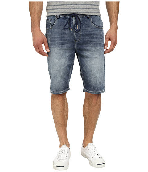Seven7 Jeans - Knit Denim Shorts in Leaded Blue (Leaded Blue) Men's Shorts