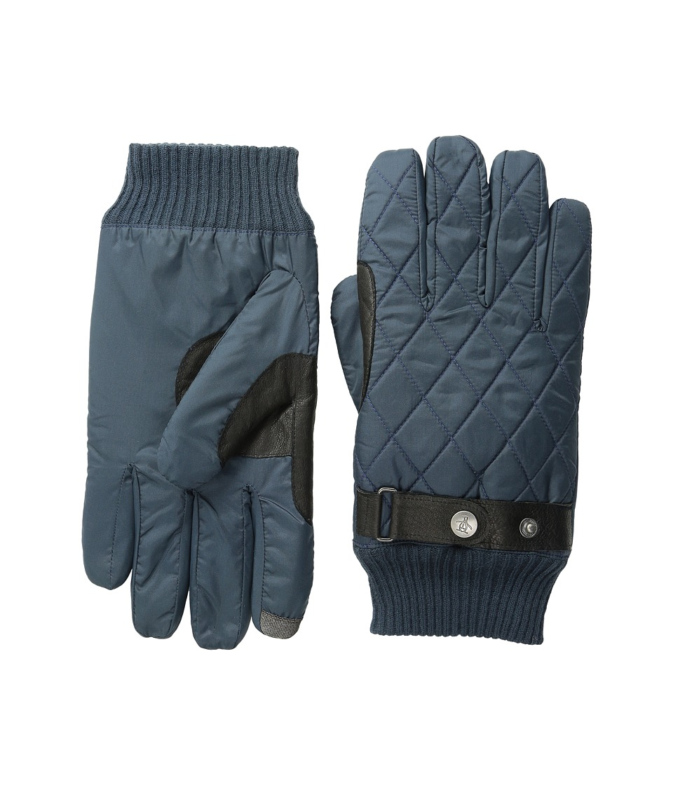 Original Penguin Quilted Nylon Gloves (Dark Sapphire) Extreme Cold Weather Gloves