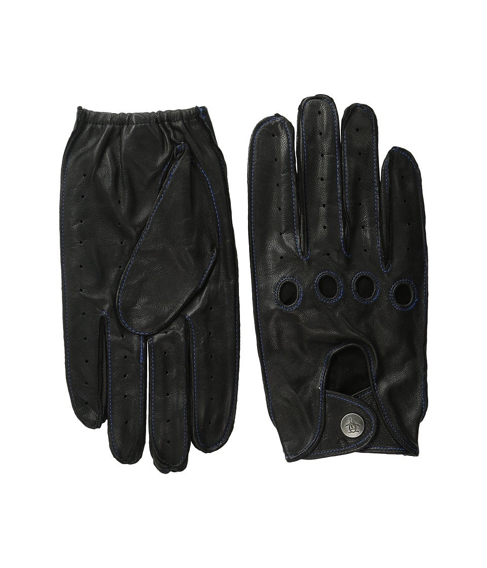 Original Penguin - Sheepskin Driving Gloves (Black) Extreme Cold Weather Gloves