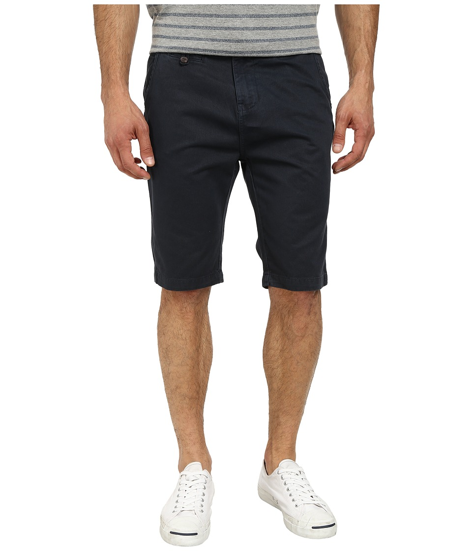 Seven7 Jeans - Twill Flat Front Short (Blue/Black) Men's Shorts