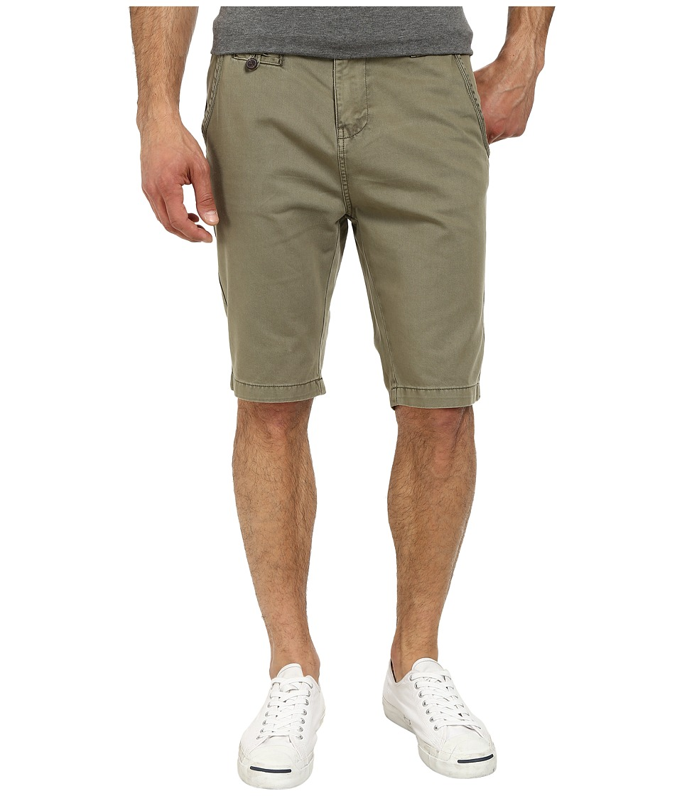 Seven7 Jeans - Twill Flat Front Short (Military Green) Men's Shorts