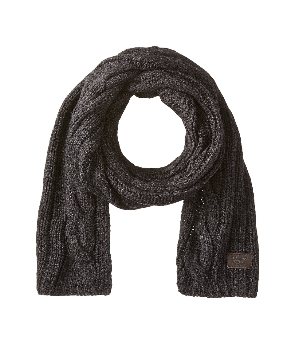 Original Penguin - Cable Knit Scarf (Black) Scarves