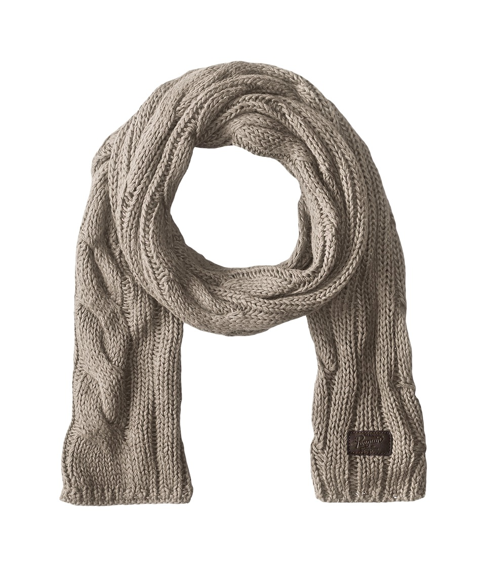 Original Penguin - Cable Knit Scarf (Silver Grey) Scarves