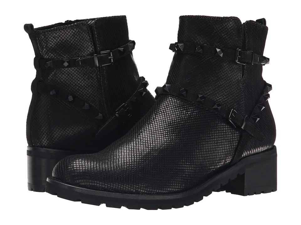 Kennel & Schmenger - Noir Stud Combat Boot (Schwarz/Black) Women's Boots