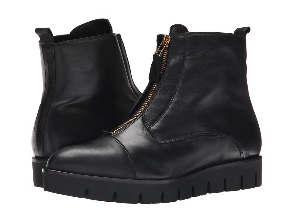 Kennel & Schmenger - Milla Flatform Ankle Boot (Schwarz/Gold) Women's Zip Boots