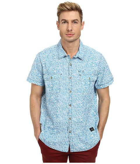 Seven7 Jeans - Short Sleeve Paisley Print (Bluejay) Men
