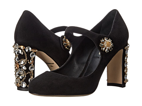 Dolce & Gabbana - Decollete Suede (Nero) High Heels