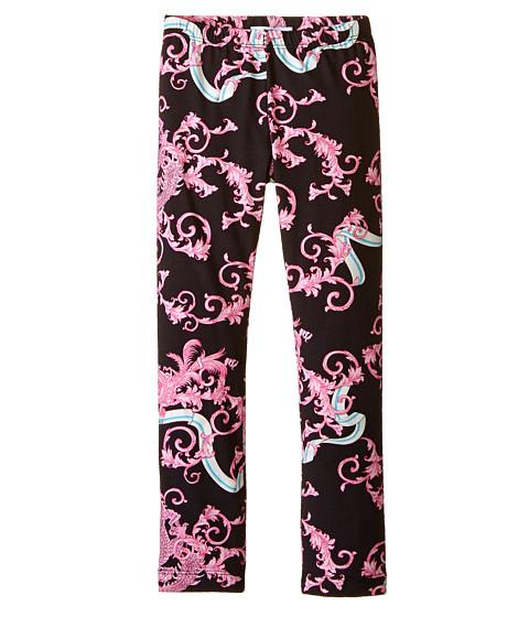 Versace Kids - Dragon All Over Print Leggings (Toddler/Little Kids) (Pink/Black) Girl