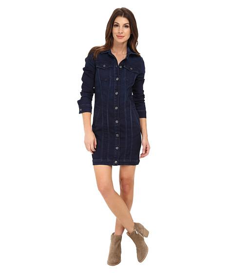 7 For All Mankind - Trucker Dress (Dark Rich Vibrant Blue) Women