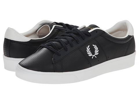 Fred Perry - Spencer Perf Leather/Suede (Navy/White) Men's Shoes