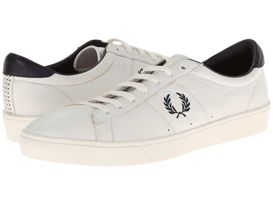 Fred Perry - Spencer Leather (Porcelain/Navy) Men's Shoes