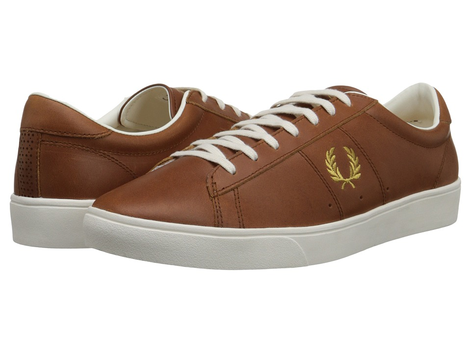 Fred Perry - Spencer Leather (Dark Tan/1964 Gold) Men's Shoes