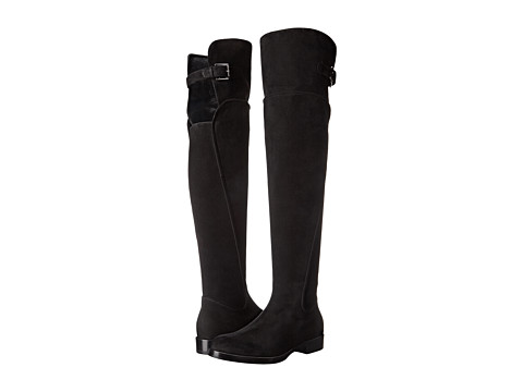 Dolce & Gabbana - Stivale Alto Suede (Nero) Women's Boots