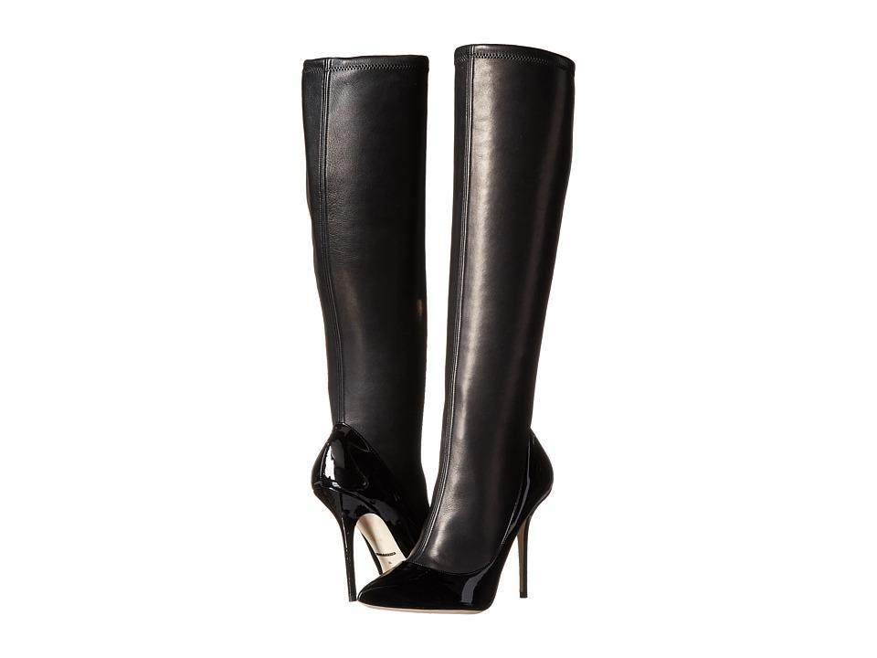 Dolce & Gabbana - Stivale Alto Vernice Nappa Stretch (Nero) Women