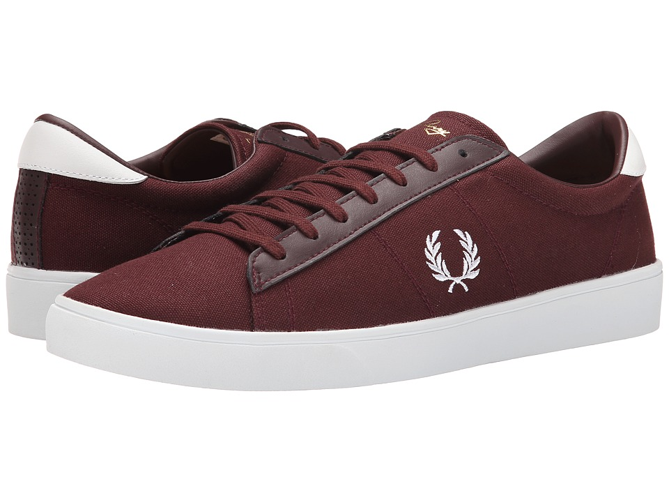 Fred Perry - Spencer Canvas (Burgundy/White) Men's Shoes