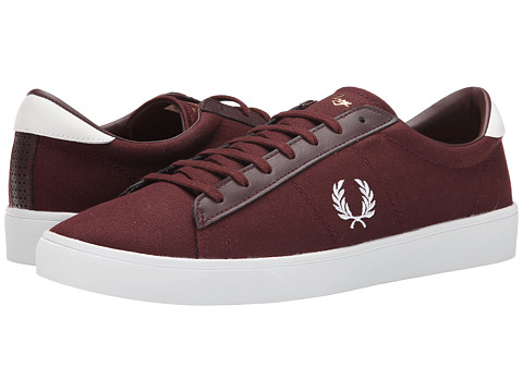 Fred Perry - Spencer Canvas (Burgundy/White) Men