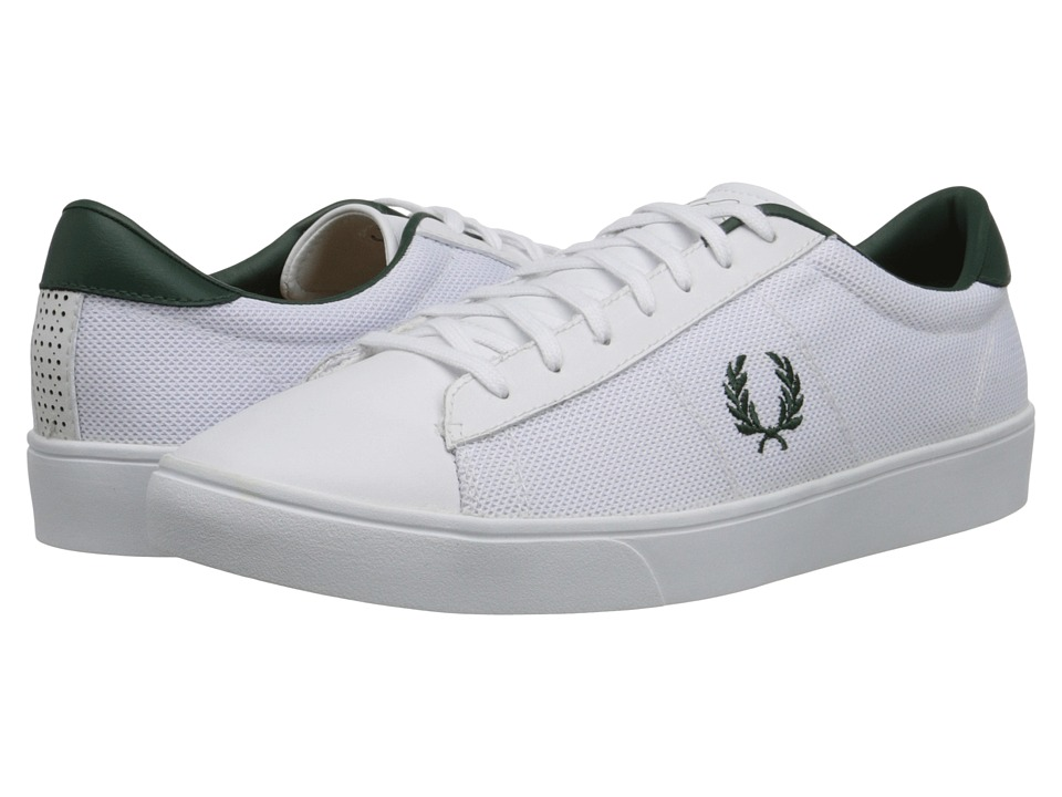 Fred Perry - Spencer Mesh/Leather (White) Men's Shoes